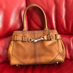 Coach Bags - COACH F11199 HAMPTON LEATHER CARRYALL